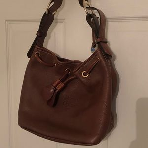 Dooney & Bourke drawstring pebbled leather purse